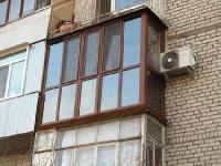 Французкий балкон с ламинацией золотой дуб
